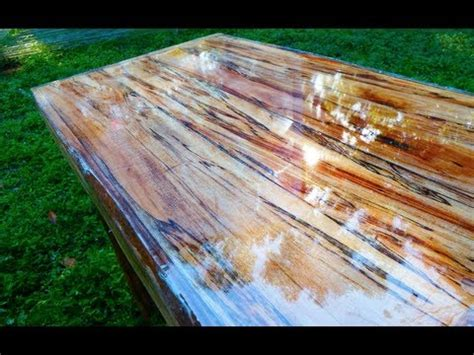 Repurposed Dining Table by Super High Gloss Table From Tree Limb Repurposing