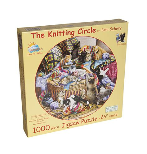 knitting puzzles the knitting circle jigsaw puzzle from knitpicks