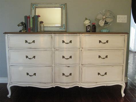 Vintage Bedroom Dresser by European Paint Finishes Bowed Dresser