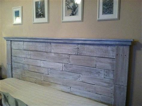 making a headboard out of pallets 40 recycled diy pallet headboard ideas 99 pallets