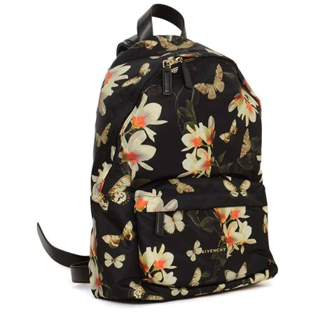 New Bnia Classic Backpack 1773 givenchy floral and butterfly print black backpack rt 1 320 at 1stdibs