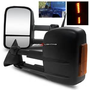 95 99 chevy tahoe extendable towing manual mirrors w led