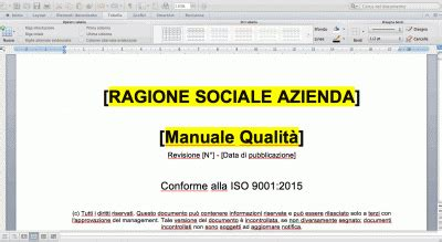 www certificazione info manuale qualit 224 iso 9001 2015