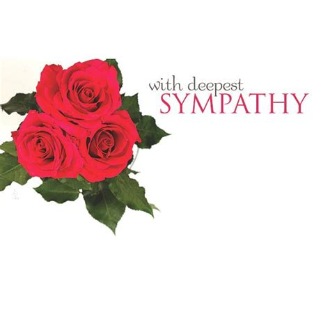Sympathy Roses by With Deepest Sympathy With 3 Roses Sympathy Floral Cards
