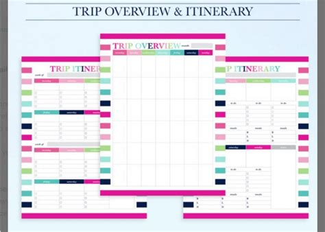 10 itinerary template exles templates assistant