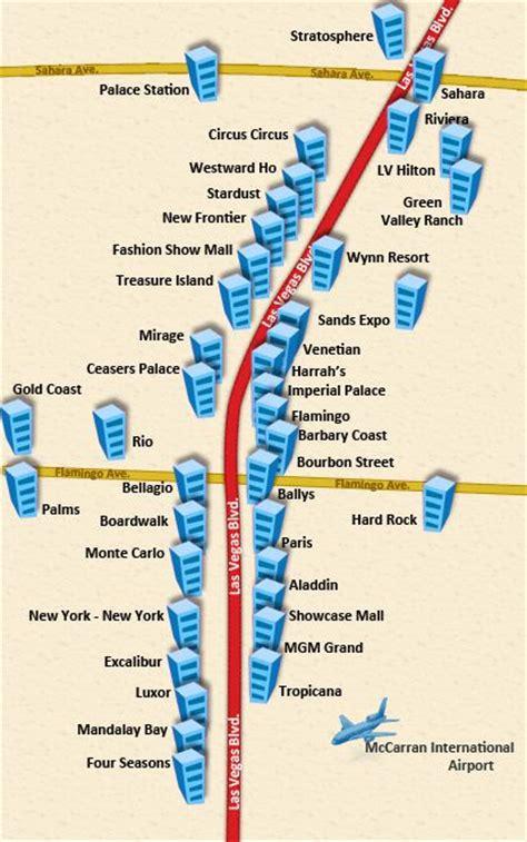 Americantowns Com 15 Must See Las Vegas Strip Map Pins Las Vegas Map Las