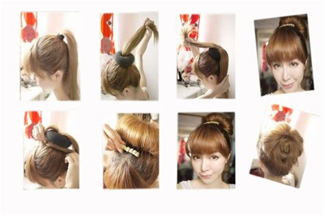 how to use a hair bun ring hair styling bun maker ring donut shaper hair styler