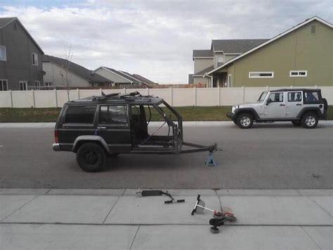 Sho Kuda Miranda he turned an jeep xj into one helluva diy trailer