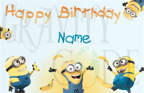 despicable me birthday card template minions happy birthday quotes quotesgram