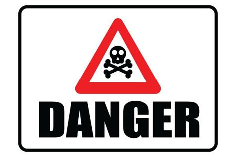 12 Warning Signs Your Is In Danger by Printable Danger Sign With Danger Symbol Free Pdf