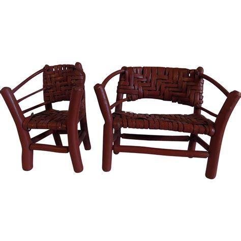adirondack settee folk art adirondack hand made twig chair w settee rustic