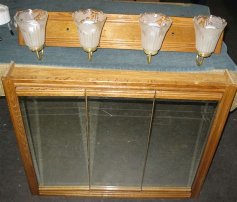3 door medicine cabinet 3 door oak mirror medicine cabinet