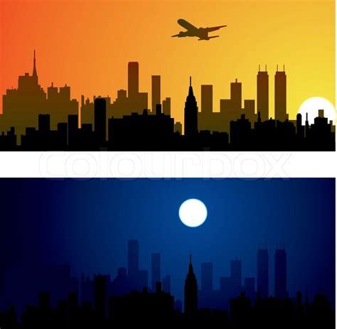 Home Design Jobs Toronto vector city background stock vector colourbox