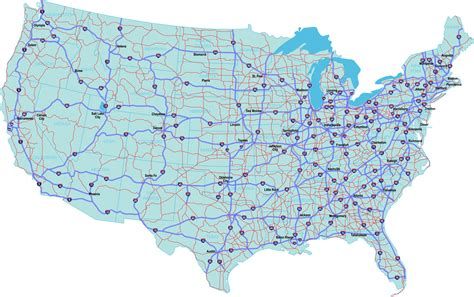 map of interstates in usa american adventure americanadventure geogregor