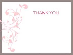 thank you note cards template thank you card best free thank you card template business