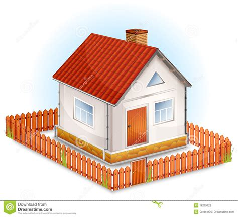 house with fence small house with fence stock vector illustration of small 18215722