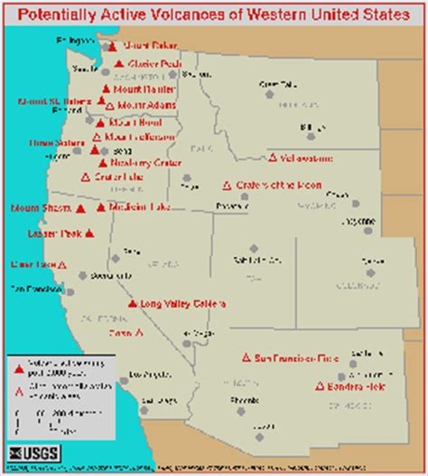 map of volcanoes in the united states the astral newz today