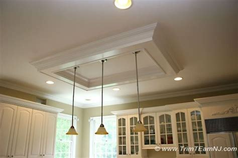 Coffered Ceiling Lighting Coffered Ceiling Above Kitchen Island To Replace That