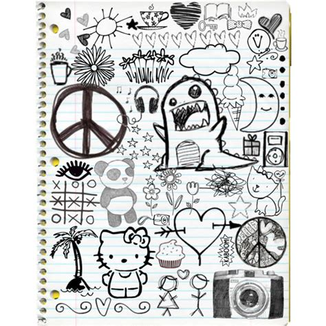how to doodle in a notebook doodles polyvore