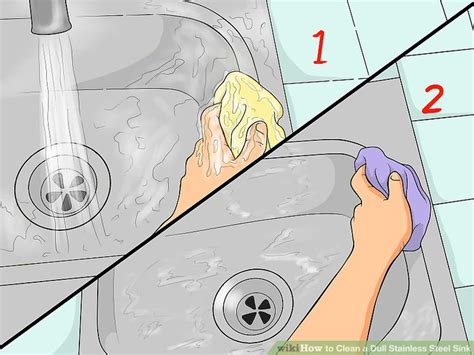 how do you clean a stainless steel sink how to clean a dull stainless steel sink 14 steps with