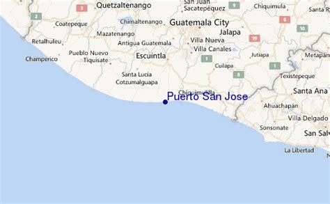 san jose guatemala map san jose previsiones de olas e bolet 237 n de surf