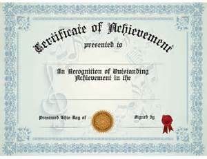 Generic Certificate Templates Buy Generic Music Achievement Certificate Awards