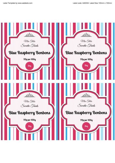 jar label template vibrant quot stripe quot sweet jar label ideas aa labels