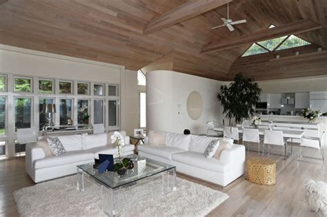 Hamptons modern living room contemporary living room new york by susanne kelley design