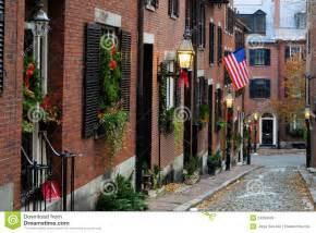 Narrow House Plans acorn street boston stock photos image 24260403