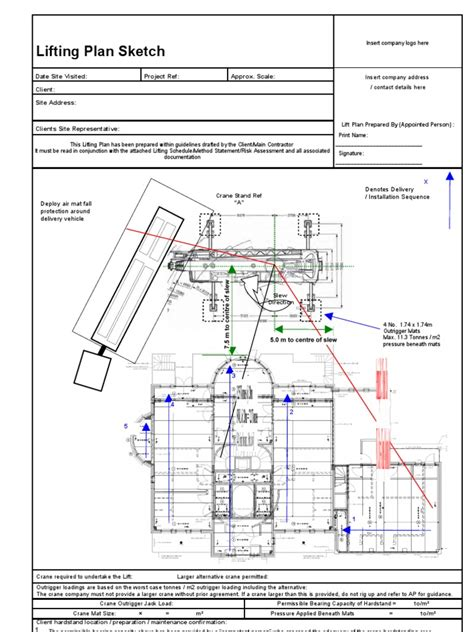 Lifting Plan Exle Crane Lift Plan Template