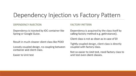 javarevisited design pattern difference between dependency injection and factory