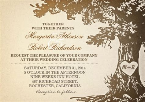 26 Vintage Wedding Invitation Templates Free Sle Exle Format Download Free Oak Tree Wedding Invitation Templates