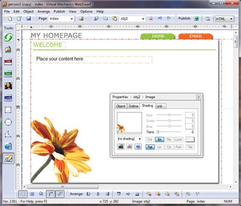 web layout program sitespinner free easy web page maker software