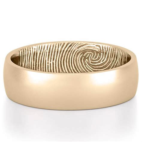 fingerprint wedding band s fingerprint on inside of
