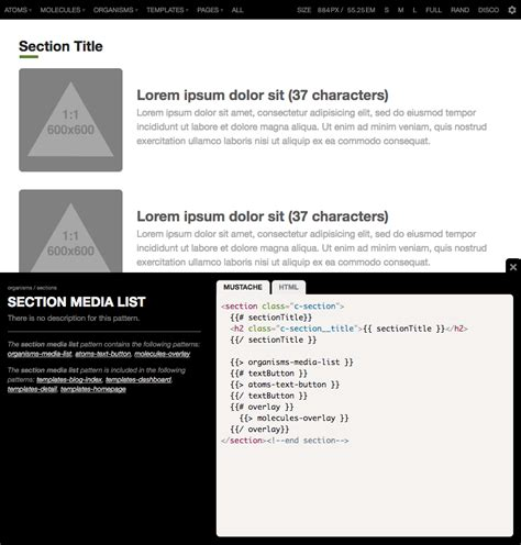 Pattern Lab Component Builder | how to make and maintain atomic design systems with