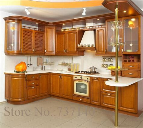 Aliexpress Com Buy Solid Wood Kitchen Cabinet American Solid Wood Kitchen Furniture