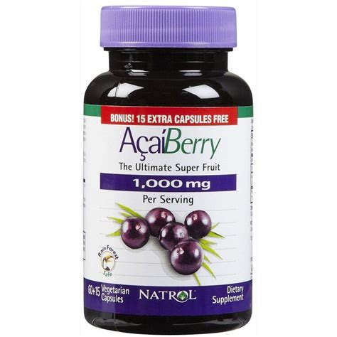 Natrol Acai Berry natrol acaiberry 1000 mg 75 caps