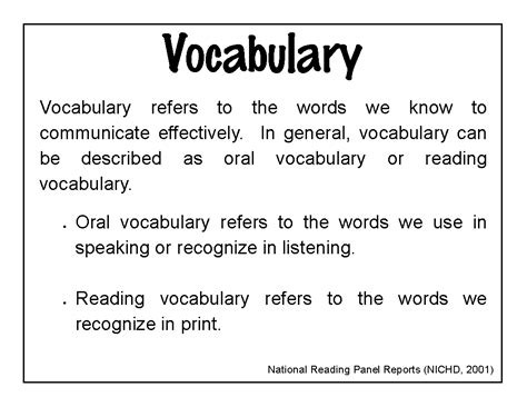 vocabulary words harney school improvement vocabulary theme of