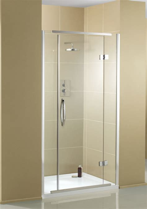 Hinged Shower Doors Aquadart Inline Recess Hinged Shower Door 900mm Aq1011