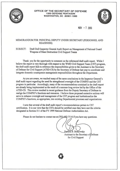 Va Justification Letter Management Of National Guard Weapons Of Mass Civil Support Teams D 2001 043