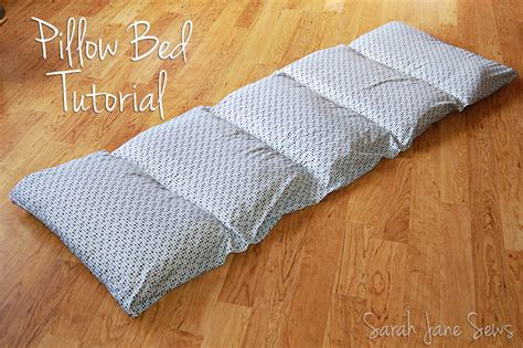 Pillow Bed Made With Pillowcases Sews Tutorial Pillow Bed From Xl Sheet