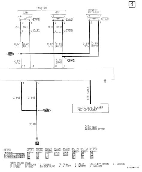 need radio wiring diagram for 2003 mitsubishi eclipse