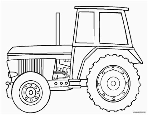tractor template to print printable deere coloring pages for cool2bkids