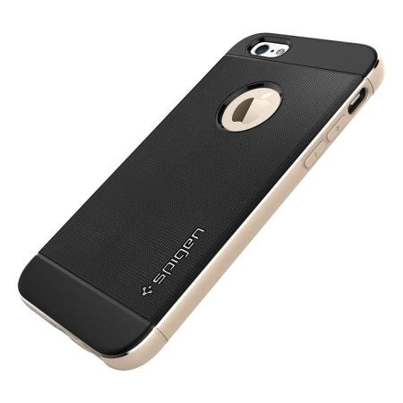 Spigen Iphone 6 Neo Hybrid Metal Chagne Gold spigen neo hybrid metal iphone 6s 6 chagne gold