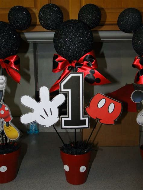 Centerpiece Mickey 1st Birthday 289566 diy mickey mouse centerpieces i made for my s 1st