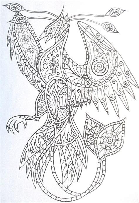 coloring pages phoenix bird steunk phoenix coloring page printable adult kleuren