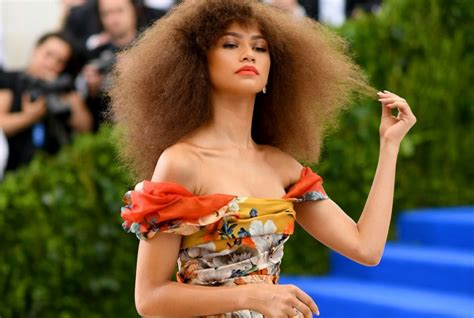 nia imani franklin race zendaya wore the most angelic afro ever to the met gala
