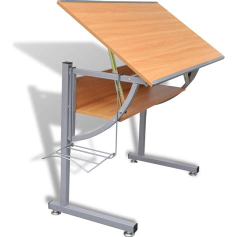 Tiltable Drafting Table With Storage Shelf Rack Buy Drafting Table Storage