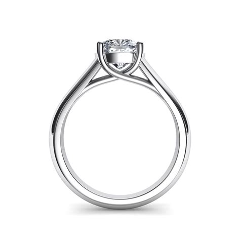 lucida wide band cushion cut engagement ring
