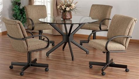Dining Room Chairs With Wheels Dining Room Chairs On Casters Peenmedia